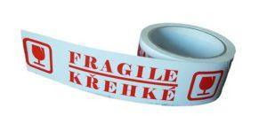 Lepicí páska tichý akryl 48mm x 50m, potisk KŘEHKÉ/FRAGILE