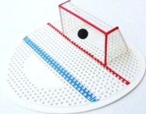 WC sítko parfémované – pisoárové sítko s brankou hokej