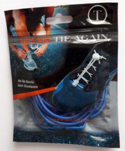 Modré elastické tkaničky