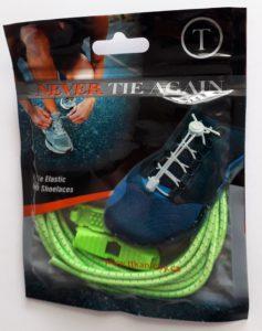 Reflexní elastické zelené tkaničky