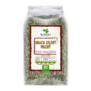 BONITAS Bio Hrášek zelený pulený 500g