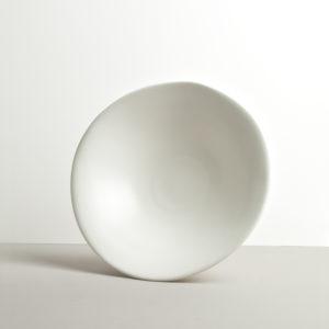 Large Bowl, irregular shape, white, MODERN, 26 cm