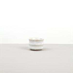 Sake cup, white