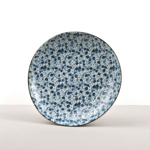 Round Plate Blue Daisy 23 cm