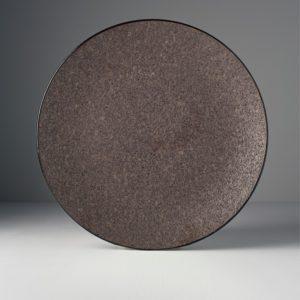 Round plate Earth Black 29 cm