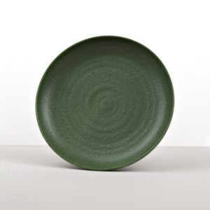 Round Plate Earthy Green 25 cm