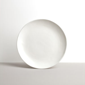 Round Plate with Patchy Edge MT white 24 cm