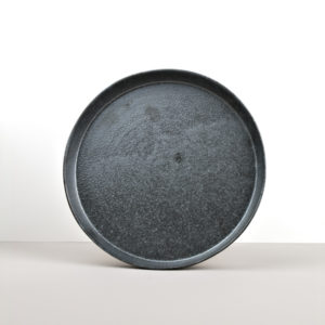 Round Plate with High Edge CRAFT BLACK 25 cm