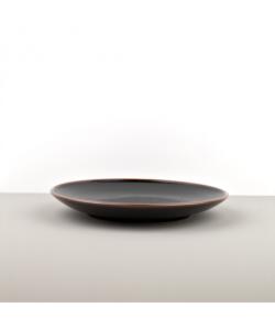 Round Plate, Tenmokku, 25 cm