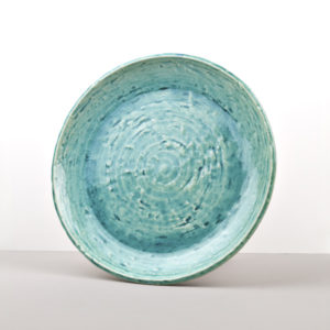 Round Plate Turquoise 28 cm