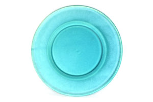 Shallow plate with wide rim Arctic Turquoise 21 cm