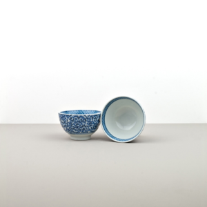 Teacup, TEACUP, white with blue pattern