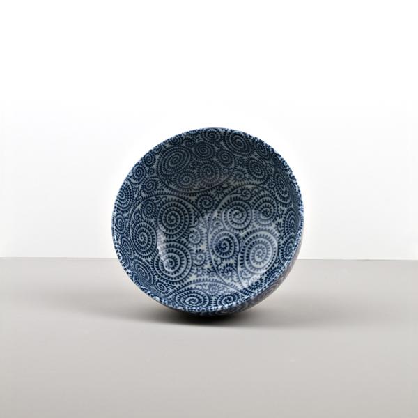Udon Bowl, Blue Scroll 16 – 8,5 cm