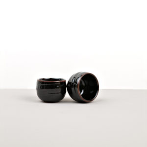 Sake Cup, Sake Cup, black and brown