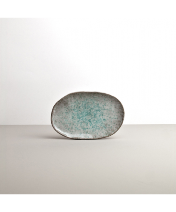 Oval Plate AQUA SPLASH 17 x 11 cm