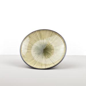 Shallow plate green Dk Green 20 cm