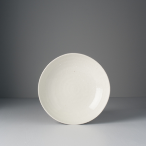 Large Flat Bowl, 21 x 5 cm, white
