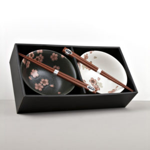 Bowl set with chopsticks Cherry Blossom