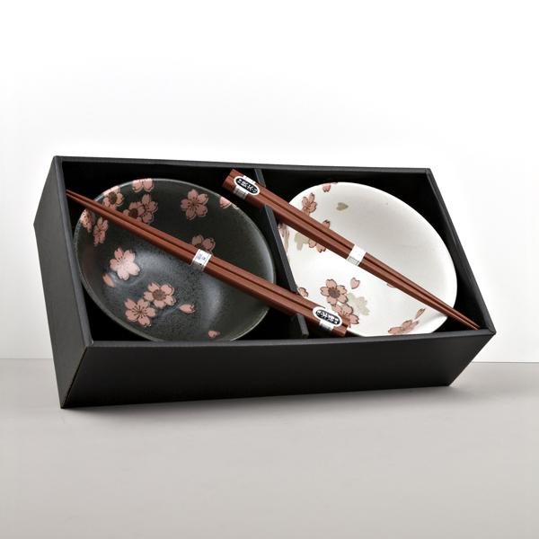 Bowl set with chopsticks Cherry Blossom