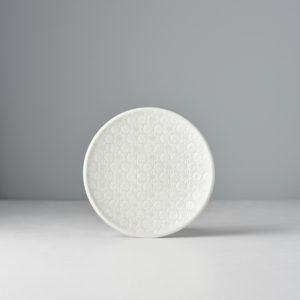 White Round Plate White Star 17 cm