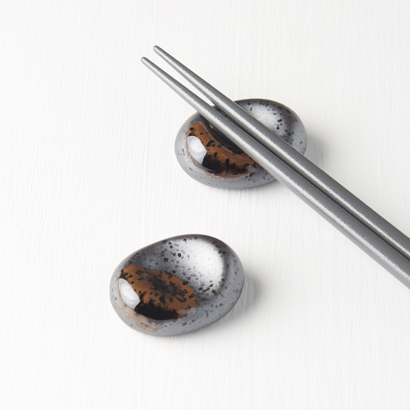 Chopsticks rest pebble black MT Black