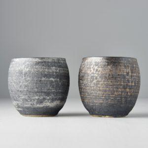 Sho-chu Cup Set Silver and Bronz 2pcs