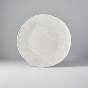 Plate Offcentre Grey Crazed 27 cm