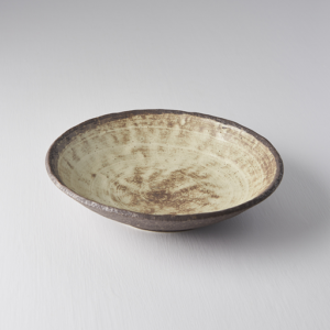 Nin-Rin Earth Shallow Open Bowl 24 cm