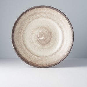 Nin-Rin Earth Flat Base Serving Bowl 29 cm