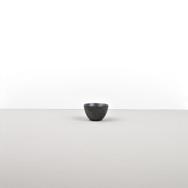 Craft Black Sake Cup – waterfall style