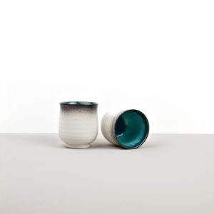 Sky blue tea mug