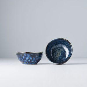 INDIGO BLUE Sauce Dish Offcentre 9 cm