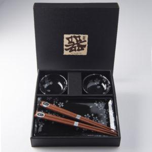 Sushi Set BLACK SAKURA DESIGN 4 pcs