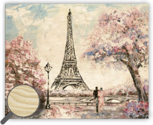Dřevěný obraz  Eiffel Tower Small