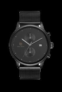 Černé pánské hodinky Paul Rich s páskem z nerezové oceli Comet – Mesh