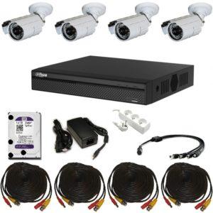 4 kamerový venkovní analogový systém set – XVR4104HS-S3-CI20-70-W-SET 1TB