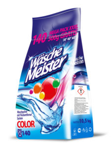 WascheMeister Color 10,5 kg 140 PD prací prášek