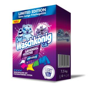 Waschkönig Universal prací prášek s vůní levandule 7,5 kg 100 praní