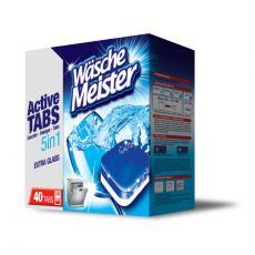 WaschMeister Active Tabs 5 in 1 tablety do myčky nádobí 40 ks