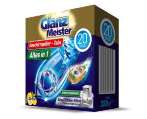 Glanz Meister tablety do myčky Alles in 1 – 20ks