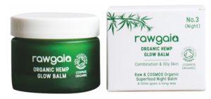 Rawgaia Organický Noční Balzám s Konopím 30 ml – rozjasňující
