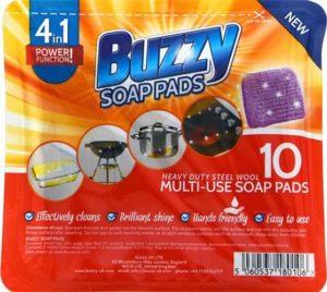 Buzzy Soap Pads – drátěnka se saponátem – 10ks