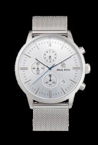 Stříbrné pánské hodinky Paul Rich s páskem z nerezové oceli Sterling – Mesh