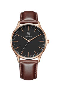 Zlaté pánské hodinky Paul Rich s páskem z pravé kůže Oakdale – Brown Leather