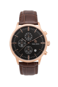 Zlaté pánské hodinky Paul Rich s páskem z pravé kůže Sheffield – Leather