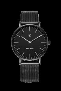 Černé dámské hodinky Paul Rich s páskem z nerezové oceli Rome Black – Mesh