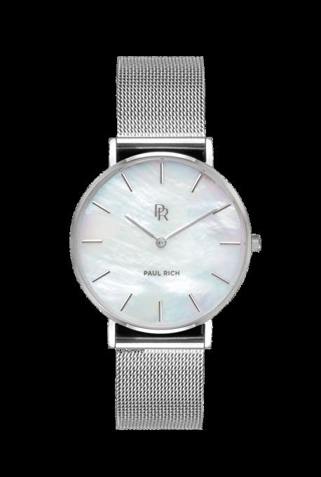Stříbrné dámské hodinky Paul Rich s páskem z nerezové oceli Beverly – Silver Mesh