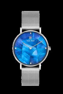 Stříbrné dámské hodinky Paul Rich s páskem z nerezové oceli Heart of the Ocean – Silver Mesh