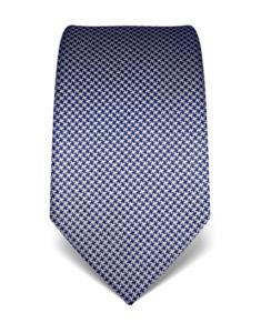 Tmavě modrá kravata Vincenzo Boretti 21989 – kohoutí stopa