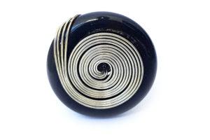 Prsten spirála černý